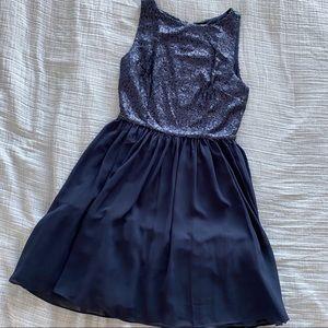 Sequin navy blue BB Dakota dress